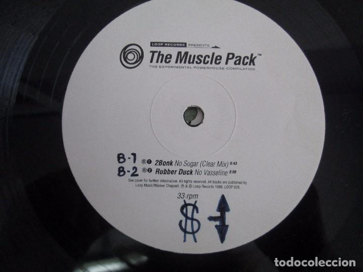 Discos de vinilo: THE MUSCLE PACK. THE EXPERIMENTAL POWEHOUS COMPILATION. EP VINILO .DOS DISCOS. LOOP RECORDS 1996 - Foto 6 - 104262947