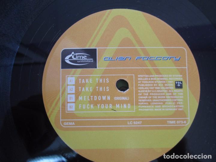 Discos de vinilo: ALIEN FACTORY. EP VINILO. TIME UNLIMITED 1997. VER FOTOGRAFIAS ADJUNTAS - Foto 6 - 104263323