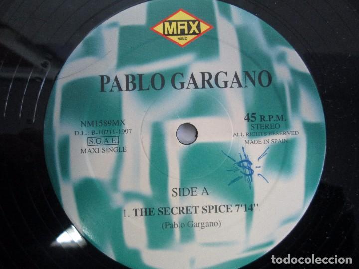 Discos de vinilo: PABLO GARGANO. THE SECRET SPICE. MAXI SINGLE 1997. MAX MUSIC EDICIONES. VINILO. VER FOTOGRAFIAS ADJU - Foto 6 - 104267267