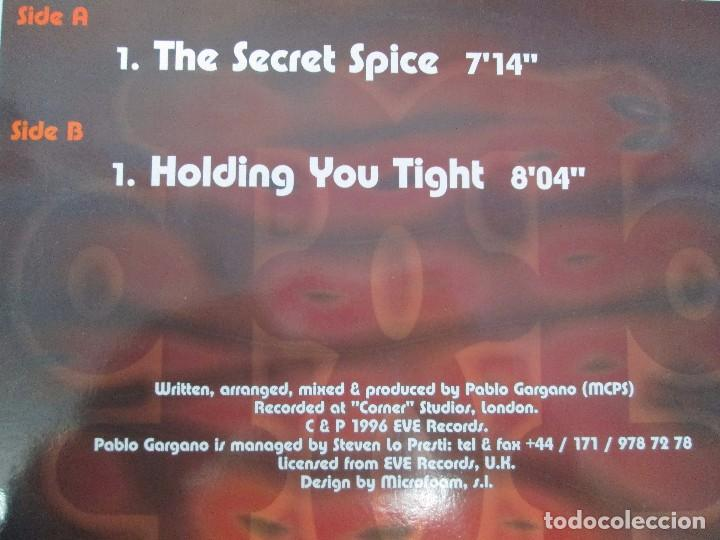 Discos de vinilo: PABLO GARGANO. THE SECRET SPICE. MAXI SINGLE 1997. MAX MUSIC EDICIONES. VINILO. VER FOTOGRAFIAS ADJU - Foto 7 - 104267267