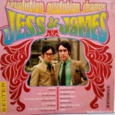 Discos de vinilo: JESS & JAMES- REVOLUTION, EVOLUTION, CHANGE- SPAIN LP 1969- VINILO COMO NUEVO.. Lote 104269915