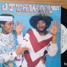 Discos de vinilo: SINGLE (VINILO) DE OTTAWAN AÑOS 80. Lote 104275947