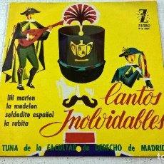 Discos de vinilo: CANTOS INOLVIDABLES-TUNA DE LA FACULTAD DE DERECHO DE MADRID-EP-LILI MARLEN-N. Lote 104277099