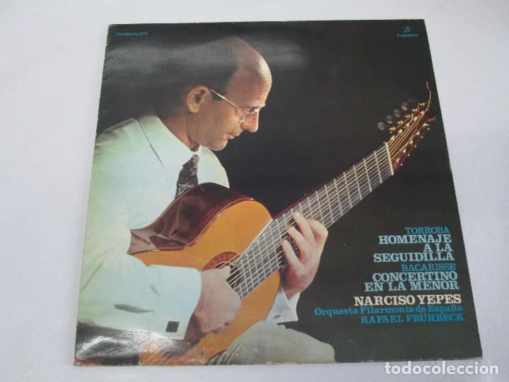 Discos de vinilo: NARCISO YEPES ORQUESTA FILARMONICA DE ESPAÑA. RAFAEL FRÜHBECK. TORROBA. BACARISSE. VINILO - Foto 2 - 104278723