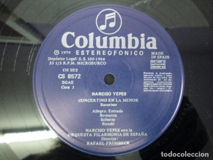 Discos de vinilo: NARCISO YEPES ORQUESTA FILARMONICA DE ESPAÑA. RAFAEL FRÜHBECK. TORROBA. BACARISSE. VINILO - Foto 4 - 104278723