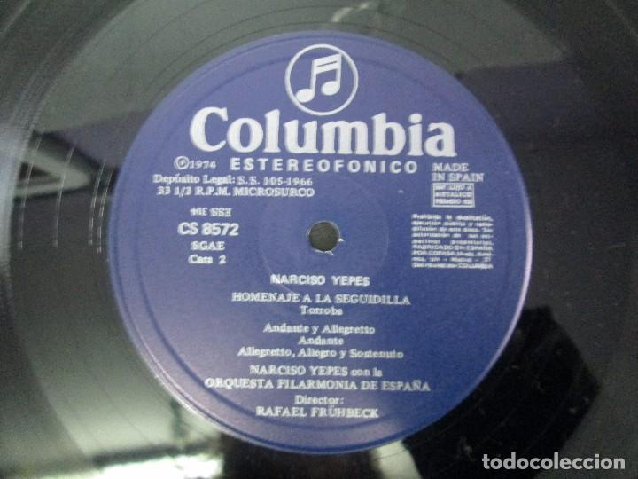 Discos de vinilo: NARCISO YEPES ORQUESTA FILARMONICA DE ESPAÑA. RAFAEL FRÜHBECK. TORROBA. BACARISSE. VINILO - Foto 6 - 104278723