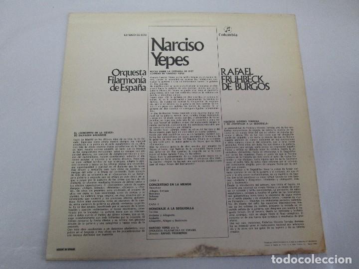 Discos de vinilo: NARCISO YEPES ORQUESTA FILARMONICA DE ESPAÑA. RAFAEL FRÜHBECK. TORROBA. BACARISSE. VINILO - Foto 8 - 104278723