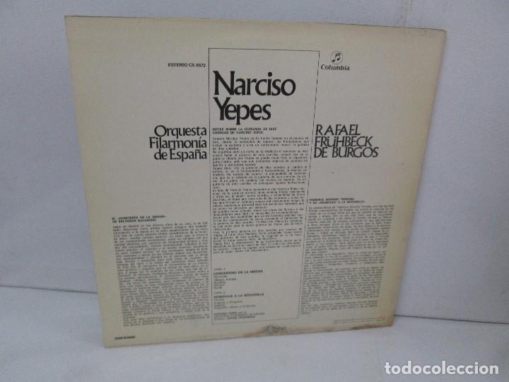 Discos de vinilo: NARCISO YEPES ORQUESTA FILARMONICA DE ESPAÑA. RAFAEL FRÜHBECK. TORROBA. BACARISSE. VINILO - Foto 9 - 104278723
