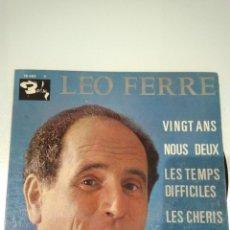Discos de vinilo: EP LEO FERRE VINGT ANS VG++. Lote 104279591