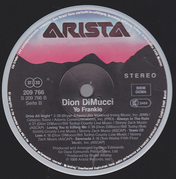 Discos de vinilo: dion & the belmonts - yo frankie - lou reed, patty smith,p simon, doo-wop - org edt + inserto, ex - Foto 4 - 104280304