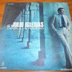 Discos de vinilo: JULIO IGLESIAS CANTA A LA NAVIDAD- EN UN BURRITO OREJON/ NOCHE DE PAZ- SINGLE. Lote 104287031
