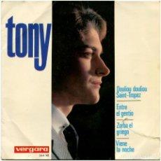 Discos de vinilo: TONY (TONY VILAPLANA) - ENTRE EL GENTÍO (THE 'IN' CROWD) - EP SPAIN 1965 - VERGARA 364-XC. Lote 104289535