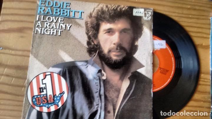 SINGLE (VINILO) DE EDDIE RABBITT AÑOS 80 (Música - Discos de Vinilo - Maxi Singles - Country y Folk)