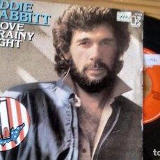 Discos de vinilo: SINGLE (VINILO) DE EDDIE RABBITT AÑOS 80. Lote 104294647