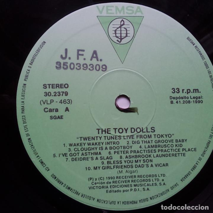 Discos de vinilo: THE TOY DOLLS- TWENTY TUNES LIVE FROM TOKYO- SPAIN LP 1990- VINILO EXC. ESTADO. - Foto 3 - 104298663