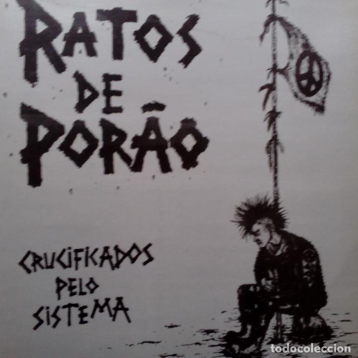 RATOS DE PORAO- CRUCIFICADOS PELO SISTEMA- LP SPAIN 1992 + INSERT- TRALLA RECORDS- COMO NUEVO. (Música - Discos - LP Vinilo - Punk - Hard Core)