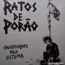Discos de vinilo: RATOS DE PORAO- CRUCIFICADOS PELO SISTEMA- LP SPAIN 1992 + INSERT- TRALLA RECORDS- COMO NUEVO.. Lote 104299455