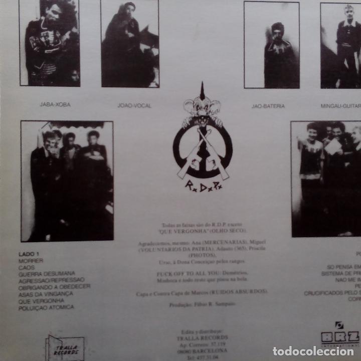 Discos de vinilo: RATOS DE PORAO- CRUCIFICADOS PELO SISTEMA- LP SPAIN 1992 + INSERT- TRALLA RECORDS- COMO NUEVO. - Foto 2 - 104299455