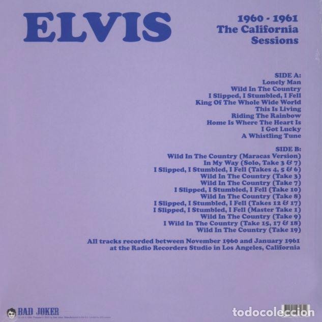 Discos de vinilo: ELVIS PRESLEY - THE CALIFORNIA SESSIONS 1960-1961 - LP VINILO NUEVO - Foto 2 - 104313431