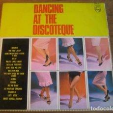 Discos de vinilo: DANCING AT THE DISCOTHEQUE PHILIPS 1964 - PRETTY THINGS JOHNNY HALLYDAY VERSIÓN BEATLES RITA KEYS. Lote 104329055