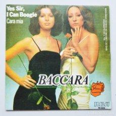 Discos de vinilo: BACCARA - YES SIR, I CAN BOOGIE - CARA MIA. Lote 104338255