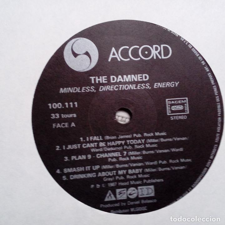 Discos de vinilo: THE DAMNED- MINDLESS, DIRECTIONLESS, ENERGY. LIVE AT THE LYCEUM 1981- FRANCE LP 1987- EXC. - Foto 4 - 104347443