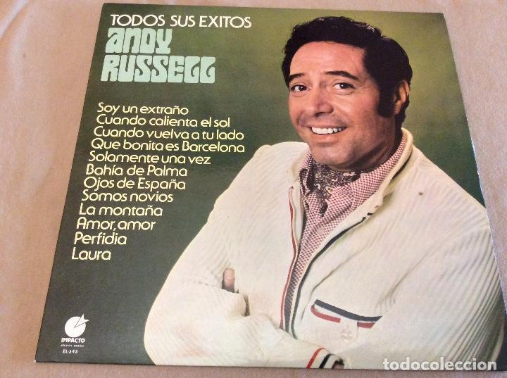 ANDY RUSSELL. TODOS SUS ÉXITOS. SOY UN EXTRAÑO ETC. IMPACTO 1977 (Música - Discos - LP Vinilo - Solistas Españoles de los 50 y 60)