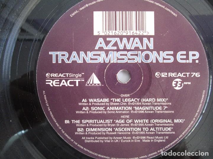 Discos de vinilo: AZWAN TRANSMISSIONS E.P VINILO. REACT MUSIC 1996. VER FOTOGRAFIAS ADJUNTAS - Foto 4 - 104357095