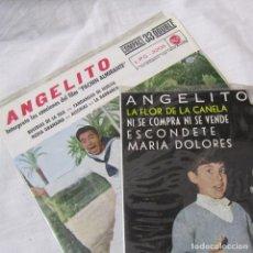 Discos de vinilo: 2 DISCOS VINILO ANGELITO BULERIAS DE LA ISLA, LA FLOR DE LA CANELA. Lote 104357311