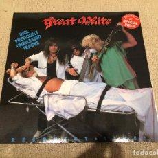 Discos de vinilo: GREAT WHITE -RECOVERY: LIVE!- (1988) LP DISCO VINILO. Lote 104365323