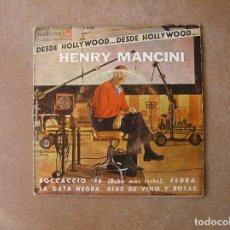 Disques de vinyle: HENRY MANCINI - DESDE HOLLYWOOD - BOCCACCIO '70 - RCA VICTOR 1963 - SINGLE - P. Lote 104370891