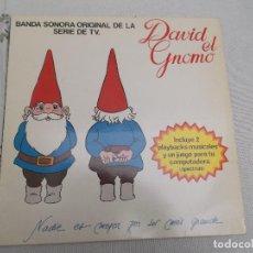 Discos de vinilo: DAVID EL GNOMO ARIOLA 1985 CON LAS HOJA DEL JUEGO DE ORDENADOR. Lote 104371391