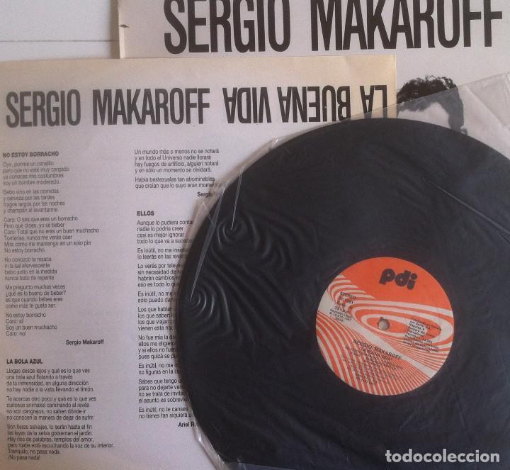 Discos de vinilo: Sergio Makaroff - La buena vida - LP PDI 1987 Edición española original - Foto 3 - 104372911