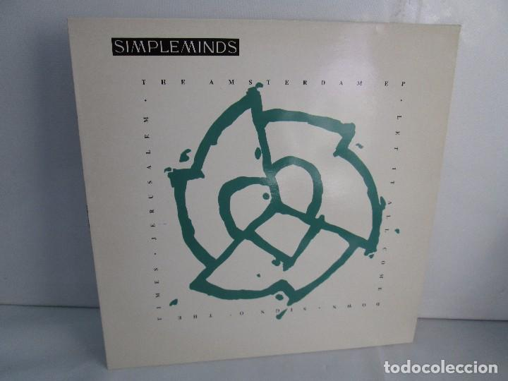 SIMPLE MINDS. THE AMSTERDAN E. P. VINILO. VIRGIN RECORDS 1989. VER FOTOGRAFIAS ADJUNTAS (Música - Discos - Singles Vinilo - Electrónica, Avantgarde y Experimental)