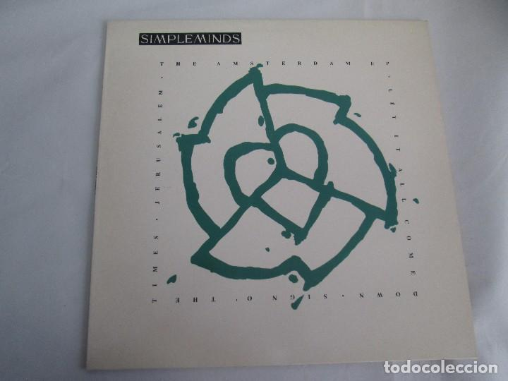 Discos de vinilo: SIMPLE MINDS. THE AMSTERDAN E. P. VINILO. VIRGIN RECORDS 1989. VER FOTOGRAFIAS ADJUNTAS - Foto 2 - 104375171