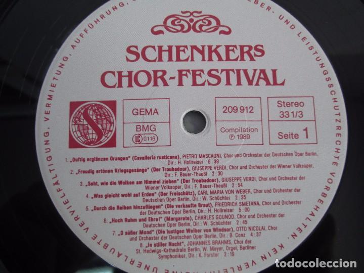 Discos de vinilo: SCHENKERS CHOR FESTIVAL. LP VINILO. BMG ARIOLA 1989. VER FOTOGRAFIAS ADJUNTAS - Foto 4 - 104375599