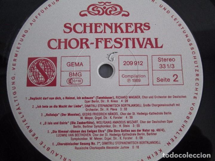 Discos de vinilo: SCHENKERS CHOR FESTIVAL. LP VINILO. BMG ARIOLA 1989. VER FOTOGRAFIAS ADJUNTAS - Foto 6 - 104375599