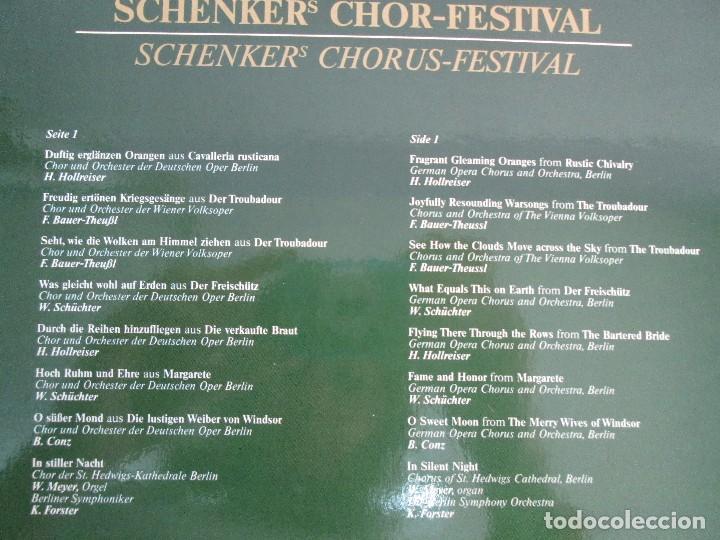 Discos de vinilo: SCHENKERS CHOR FESTIVAL. LP VINILO. BMG ARIOLA 1989. VER FOTOGRAFIAS ADJUNTAS - Foto 7 - 104375599
