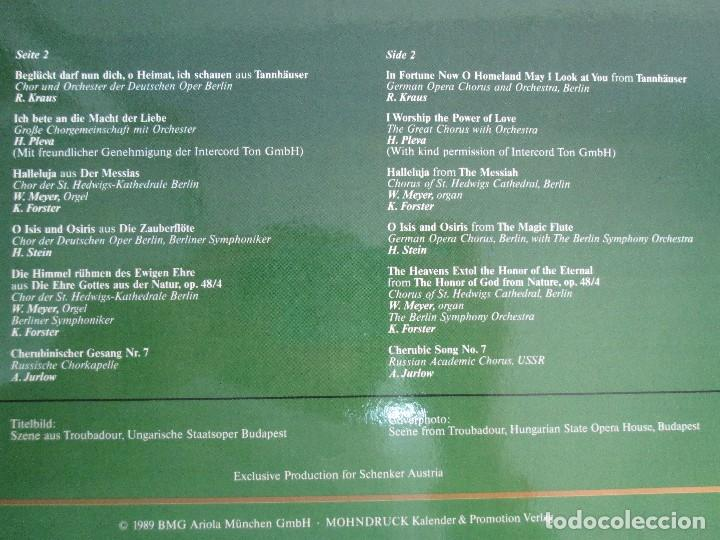 Discos de vinilo: SCHENKERS CHOR FESTIVAL. LP VINILO. BMG ARIOLA 1989. VER FOTOGRAFIAS ADJUNTAS - Foto 8 - 104375599