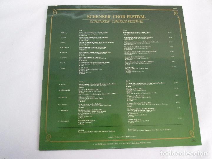 Discos de vinilo: SCHENKERS CHOR FESTIVAL. LP VINILO. BMG ARIOLA 1989. VER FOTOGRAFIAS ADJUNTAS - Foto 9 - 104375599
