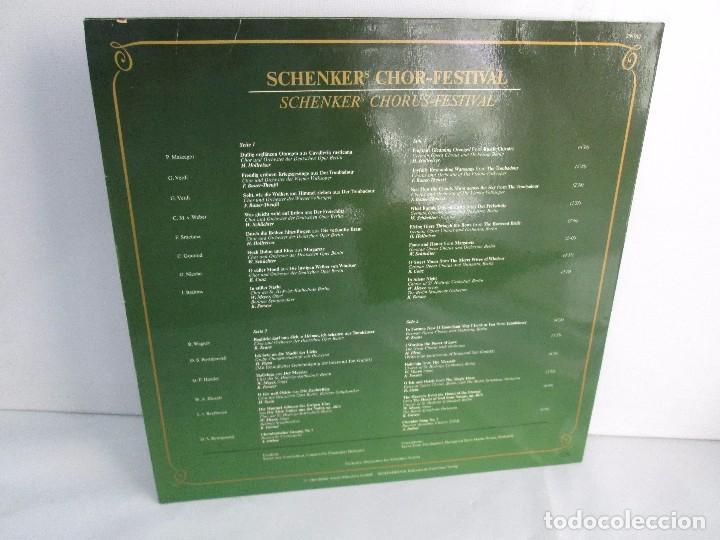 Discos de vinilo: SCHENKERS CHOR FESTIVAL. LP VINILO. BMG ARIOLA 1989. VER FOTOGRAFIAS ADJUNTAS - Foto 10 - 104375599