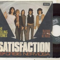 Discos de vinilo: THE ROLLING STONES / SATISFACTION / SINGLE 45 RPM / DECCA SPAIN . Lote 104388691