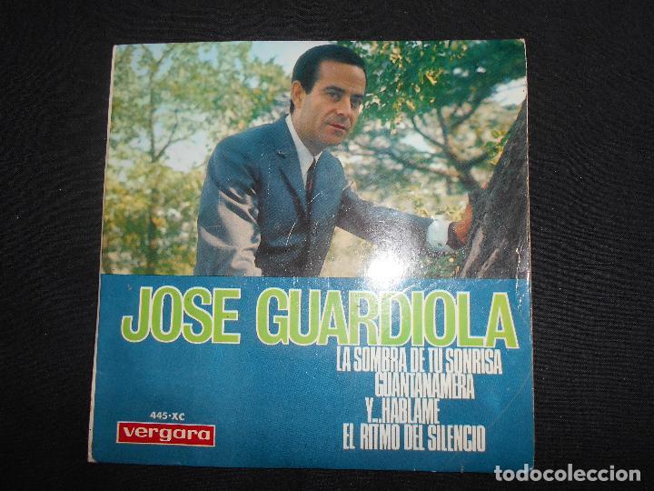 JOSE GUARDIOLA // LA SOMBREA DE TU SONRISA + 3 (Música - Discos de Vinilo - EPs - Solistas Españoles de los 50 y 60)