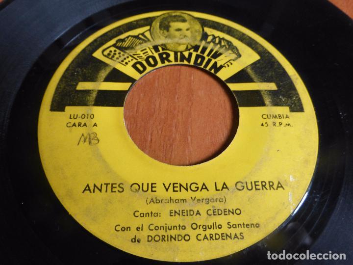 CONJUNTO ORGULLO SANTEÑO DE DORINDO CARDENAS - ANTES QUE VENGA LA GUERRA / NUNCA ME DESPRECIES - (Música - Discos - Singles Vinilo - Grupos y Solistas de latinoamérica)