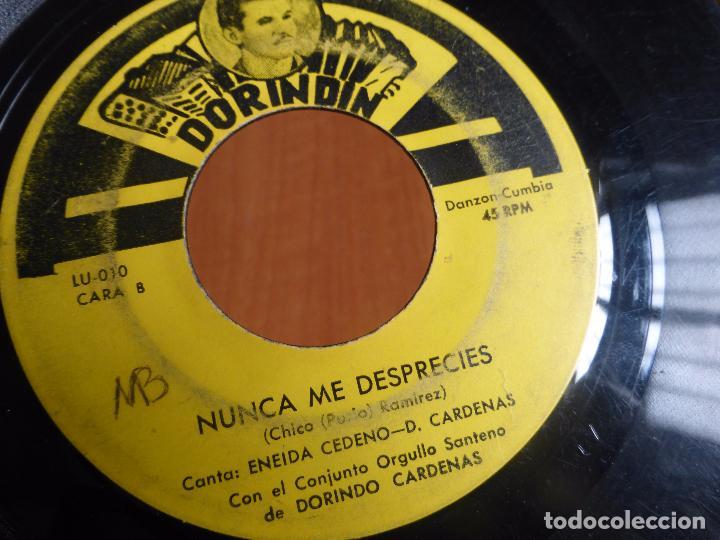 Discos de vinilo: Conjunto Orgullo Santeño De Dorindo Cardenas - antes que venga la guerra / nunca me desprecies - - Foto 2 - 104389799