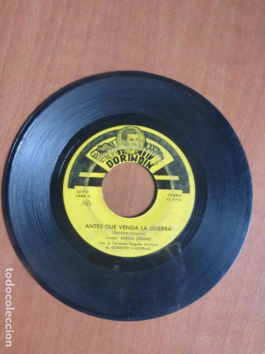 Discos de vinilo: Conjunto Orgullo Santeño De Dorindo Cardenas - antes que venga la guerra / nunca me desprecies - - Foto 3 - 104389799