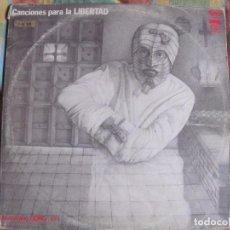 Discos de vinilo: LP - CANCIONES PARA LA LIBERTAD - MUESTRARIO GONG Nº 1 (DOBLE DISCO, SPAIN, MOVIEPLAY 1976). Lote 104391231