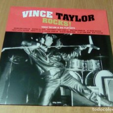 Discos de vinilo: VINCE TAYLOR & HIS PLAYBOYS - VINCE TAYLOR ROCKS! (LP 2017, NOT NOW CATLP129) PRECINTADO. Lote 159423433