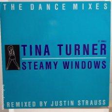 Discos de vinilo: TINA TURNER - STEAMY WINDOWS + 2 MAXI NUEVO ALEMAN. Lote 104393683