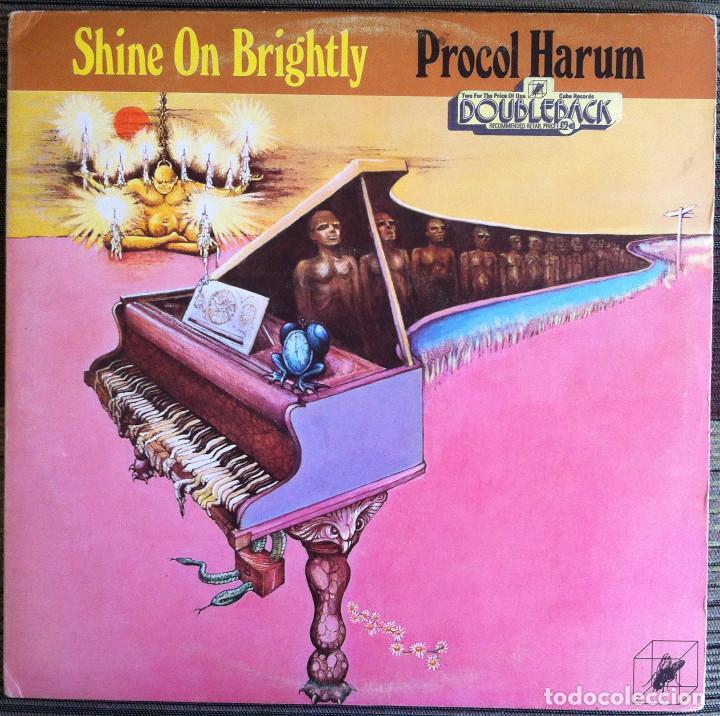 Discos de vinilo: Procol Harum - Shine on brightly+Home - 2 LP Cube Records 1972 Edición inglesa - Foto 2 - 104401979